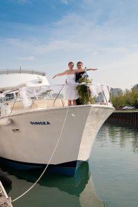 yacht charter wedding in Chicago