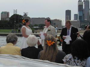 Chicago yacht wedding