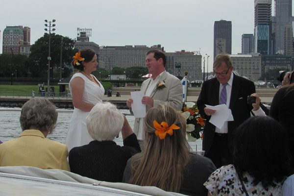Chicago yacht wedding